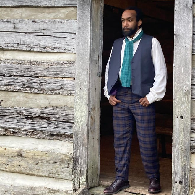 """Quan McFall portrays Henry, a young black man who shares his journey from slavery to freedom as part of Watershed Public Theatre's upcoming """"Maury Voices"""" program."""
