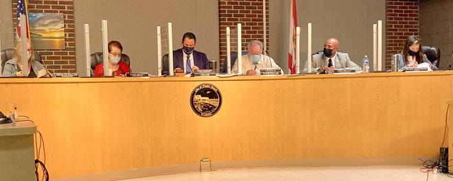 Flagler Beach commissioners approve the new city manager contract 5-0 during Tuesday's regular meeting.