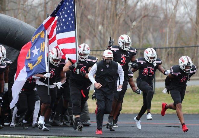 The Gardner-Webb Bulldogs kicked off their spring football season with a 42-20 home win over Elon Saturday afternoon. (Brian Mayhew/ Special to the Gazette and Star)