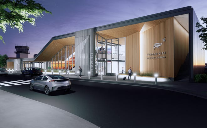 A rendering of what the new termnal will look like at Garden City Regional Airport.