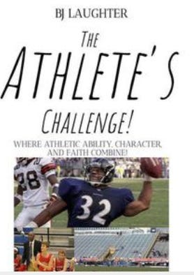 """BJ Laughter's ebook """"The Athlete's Challenge!"""" jumped up to No. 24 on the nationwide best-selling ebooks list."""