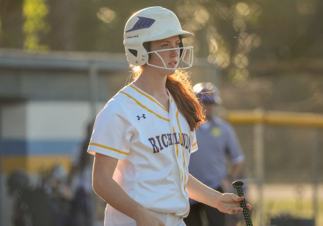 Richlands' Juliette Desmarias is one of the top returning area high school softball player. [Tina Brooks/The Daily News]