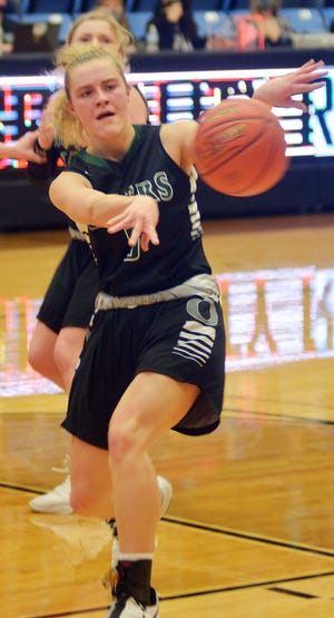 Central Plains sophomore Brynna Hammeke scored 25 points on 10 of 17 shooting in a 50-39 win over Golden Plains Thursday in the Class 1A, Division II state semifinals.