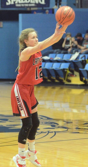Cunningham senior Morgan Meyers scored 28 points to lead the Wildcats to a 52-31 win over Beloit St. John's-Tipton Catholic in the Class 1A Division II state semifinals.