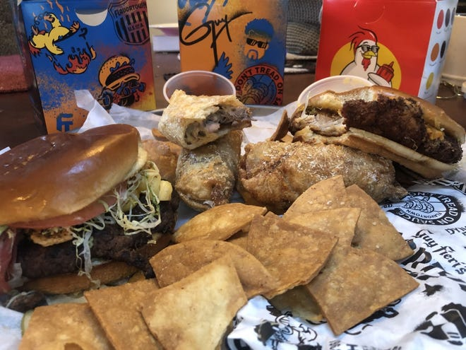 Among the local ghost kitchens delivering is Guy Fieri's Flavortown Kitchen, which offers menu items like the Bac Mac N' Cheese Burger, The Chicken Guy! Classic and cheesesteak egg rolls.