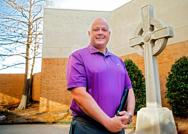 """United Methodist Church of the Servant will debut a new Easter Sunrise Service that senior pastor Matt Mitchell, seen here, described as """"an outdoor concert where we celebrate the greatest day the world has ever known. ..."""""""