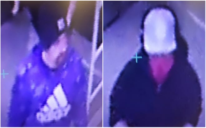 The York Police Department shared photos March 11, 2021, of suspects in a string of car break-ins off U.S. Route 1 in York, Maine.