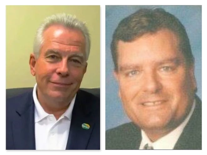 Incumbent Mayor Mike Chamberlain, left, is being challenged by Independent candidate and former city council member Clinton Morris in the general election for mayor of Belvidere.