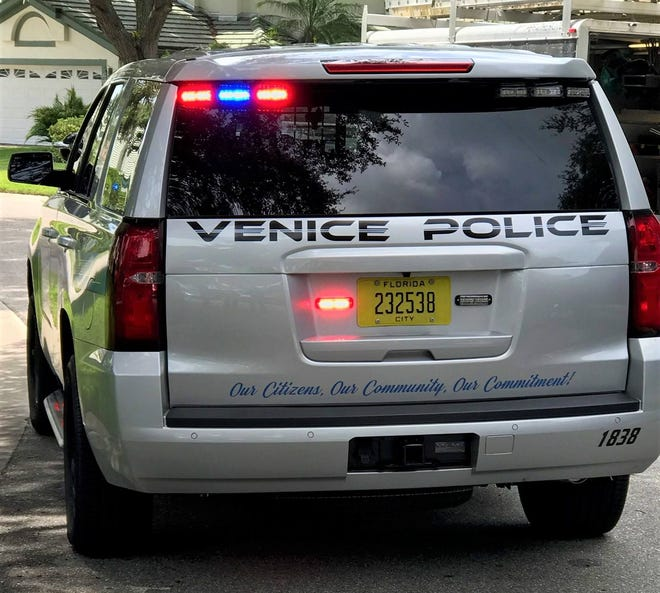 A Venice Police Department vehicle in 2018.