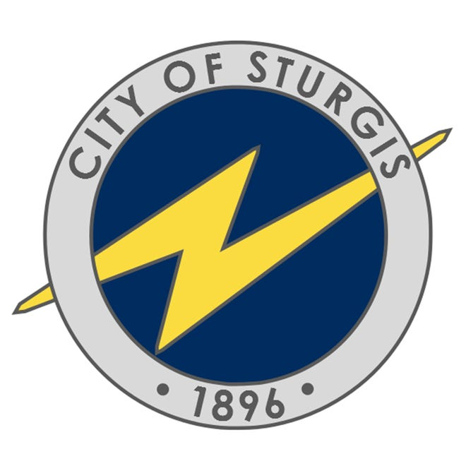 The current Sturgis city logo is pictured.