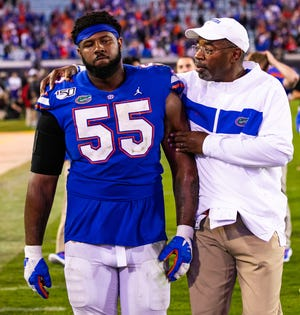 Florida defensive line Coach David Turner says he has a good group to work with.