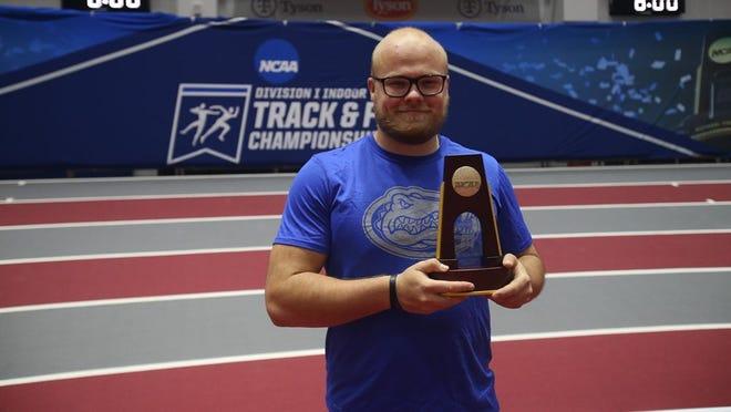 Florida weight thrower Thomas Mardal wins national championship Thursday.