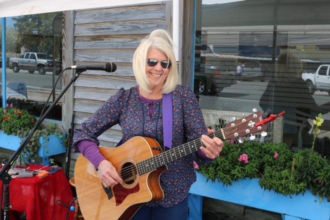 Singer songwriter Susan David plays at a past Carrabelle Culture Crawl.