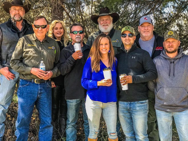 """Some of the fine folks at the second Outdoor Ron de Voux in Greenville, Texas. This is the TRHP Outdoors """"family"""" that worked together to develop and produce a fine line of outdoor products."""