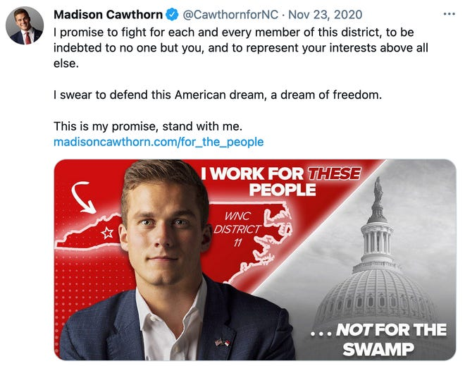 Madison Cawthorn's post-election promise