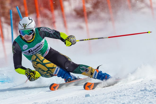 University of Vermont skier Mathias Tefre competes in a race at Burke Mountain during the 2021 season.