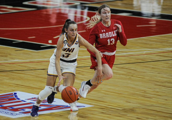 Karli Rucker and the Northern Iowa Panthers never found a rhythm offensively in Friday's MVC Tournament quarterfinal loss to Bradley.