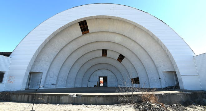 The Michigan State Fair bandshell.