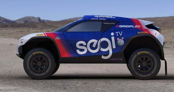 The Chip Ganassi Racing/Segi TV Extreme E racer is managed by the race team of IndyCar fame. Segi TV is a streaming service dedicated to diversity and climate change programming.