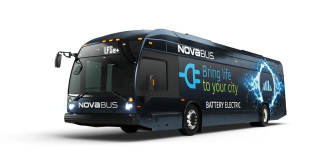 The type of battery-electric bus coming to MCTS.