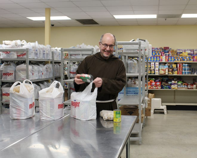 Brother Robert Wotypka of Capuchin Community Services says food is an essential part of ministry at House of Peace and Saint St. Ben's Community Meal programs.