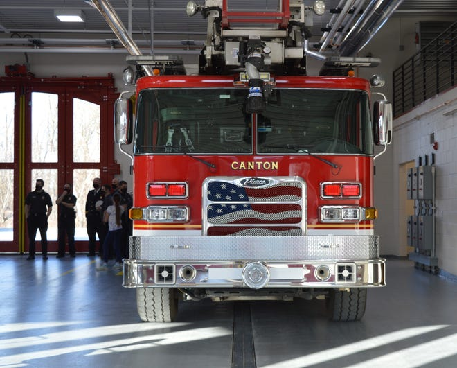 A ladder truck, fire engine and two ambulances will run out of the new station.