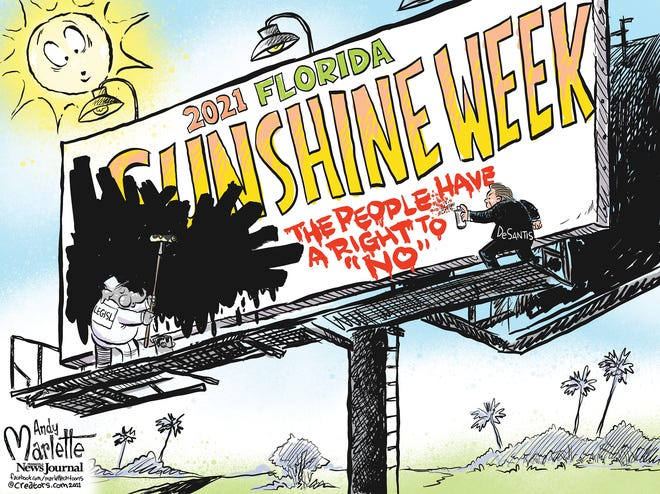 Marlette cartoon: Darkening Florida Sunshine Week