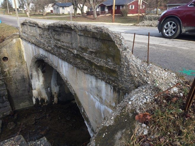 A deteriorating bridge on West Eaton Pike will be replaced beginning Monday, March 15, 2021.