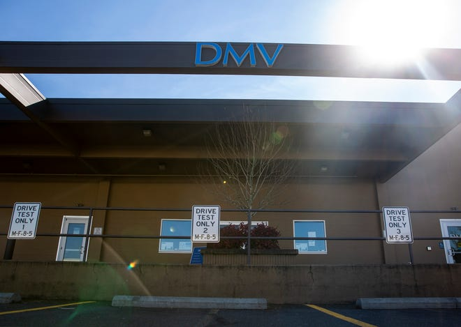 The Oregon Driver & Motor Vehicle Services office on Commercial Street SE. Staff shortages during the pandemic have caused long wait times for documents from the agency.