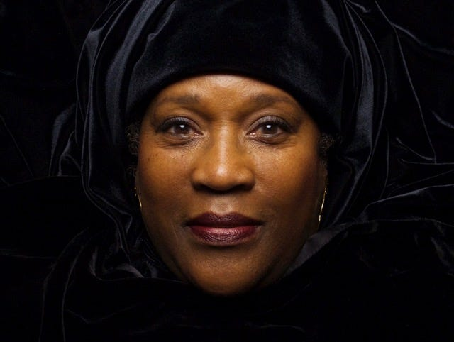 LaVerne Wells-Bowie created fabric artwork of Bessie Smith for virtual exhibit.