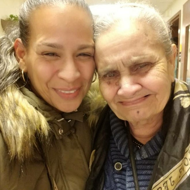 """Lillian Marrero says her mother, Hilda Torres, has declined since her nursing home in the Bronx, N.Y., locked down to guard against the spread of COVID-19. """"She is not responding, she is not talking,"""" Marrero says. """"It is heartbreaking."""""""