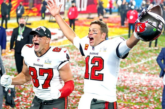 With his new expansion, Buccaneers QB Tom Brady may have made it possible for the Super Bowl 55 champions to drive it back with free agent TE Rob Gronkowski (87) and others in 2021.