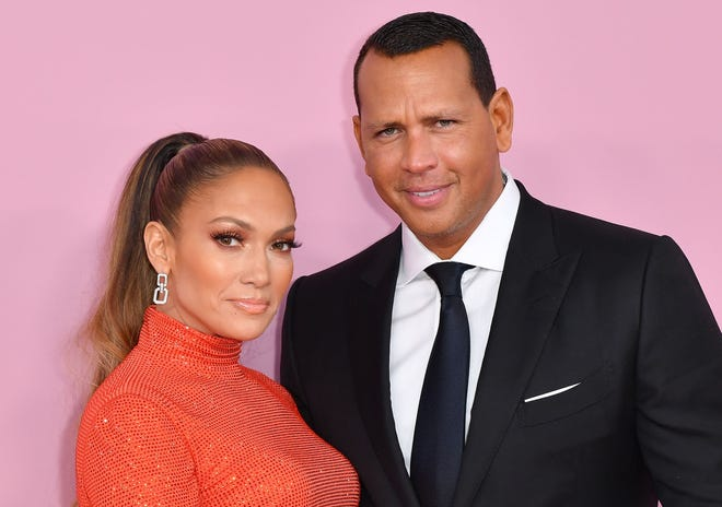 Jennifer Lopez and fiance former baseball pro Alex Rodriguez arrive for the 2019 CFDA fashion awards in New York City on June 3, 2019.