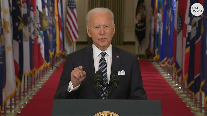 "President Biden condemned ""vicious"" hate crimes against Asian Americans while addressing the nation about the COVID-19 pandemic."