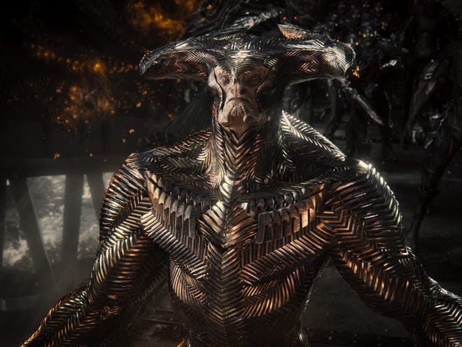 """Cosmic supervillain Steppenwolf (voiced by Ciaran Hinds) gets an upgrade for """"Zack Snyder's Justice League."""""""