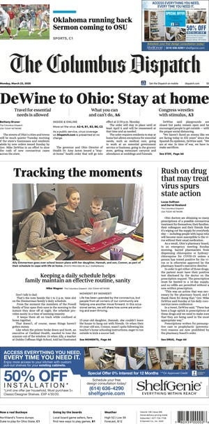 Among the awards won by the Dispatch was best front-page design.