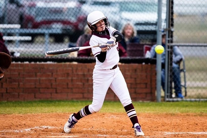 Whitesboro's Makayla Adams had three hits, including a two-run homer, during the Lady Bearcats' victory against Callisburg in District 10-3A play.