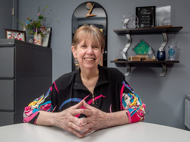 Founding member DonnaJeanne Rodine served many roles in the central Illinois chapter of the National Association of Women Business Owners, including a stint as president. As the owner of a printing company, Rodine experienced discrimination common to women business owners until the formation of the organization in 1978 and the passage of H.R. 5050, the Women's Business Ownership Act of 1988.