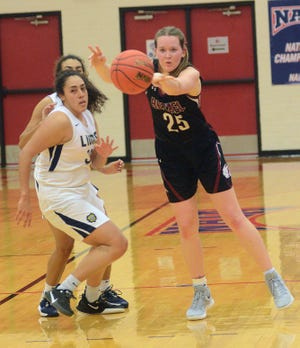 Bethel senior Abby Schmidt ended her career with the Threshers in a 67-50 loss to Vanguard University. Schmidt is Bethel's all-time leading rebounder and shot blocker. She is also among the team's leading scorers.
