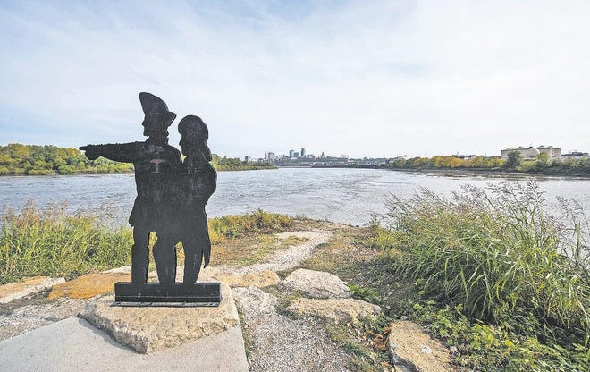 The Lewis and Clark Historic Park at Kaw Point sits at the confluence of the Kansas and Missouri rivers.