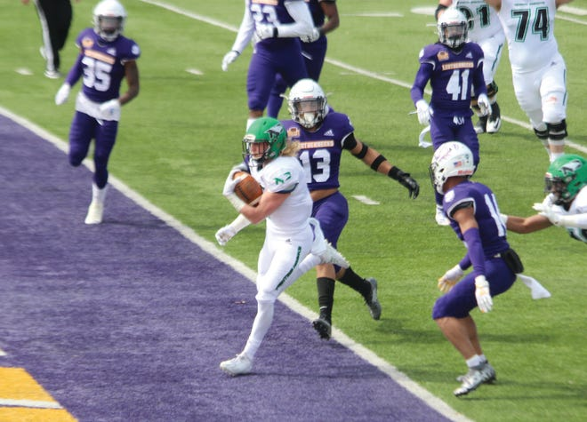 North Dakota scores a touchdown against Western  Illinois during Saturday's game.