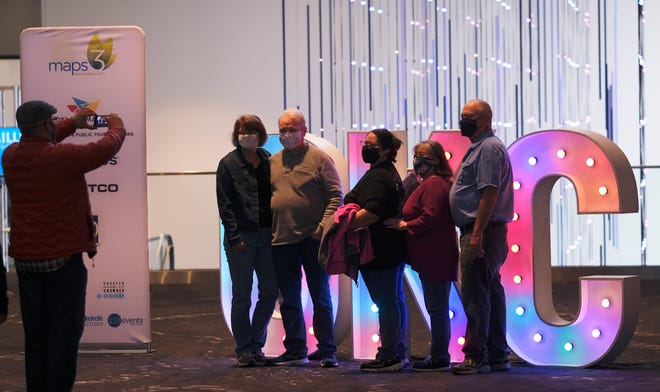 The new Oklahoma City Convention Center opened to the public Saturday for self-guided tours. Originally scheduled in December, the event was postponed because of the pandemic.