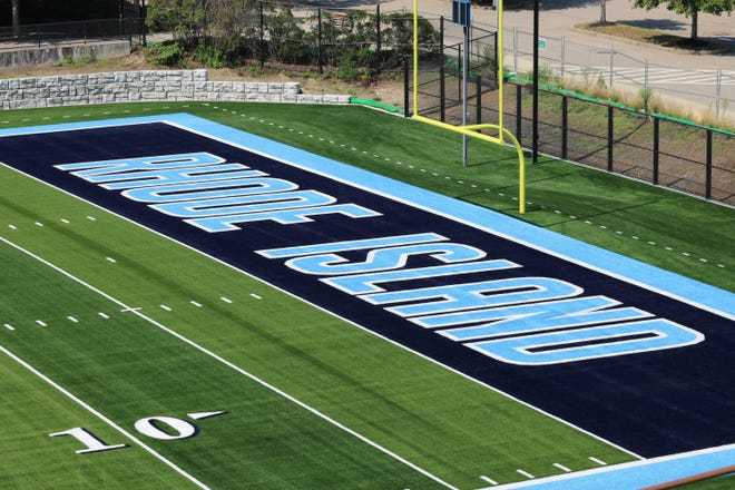 Published  Caption:  The new FieldTurf surface — part of a $4-million upgrade at Meade Stadium on the URI campus — hosted no football in 2020 as COVID-19 canceled the season. [URI ATHLETICS / Shane Donaldson]