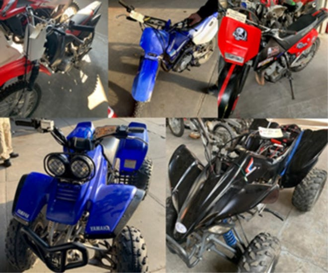 The Providence police say they seized 13 illegal ATVs and dirt bikes after announcing a crackdown Thursday.