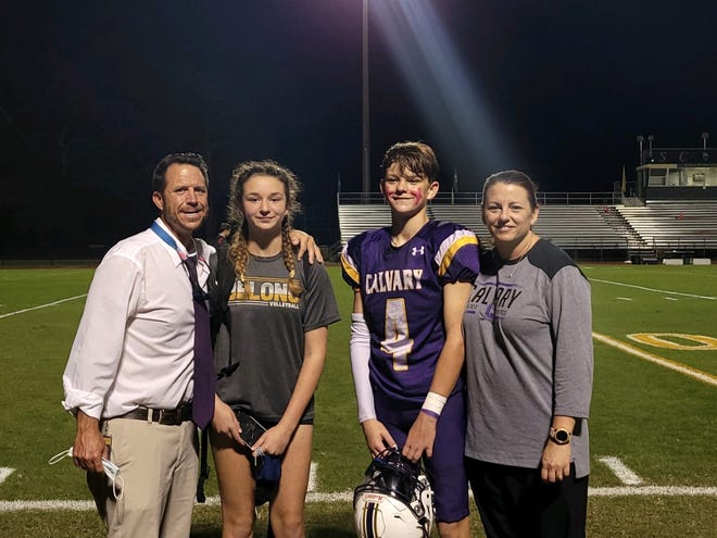 Chad Griffin with his daughter Addison, son Hayes and wife, Sherry Griffin.