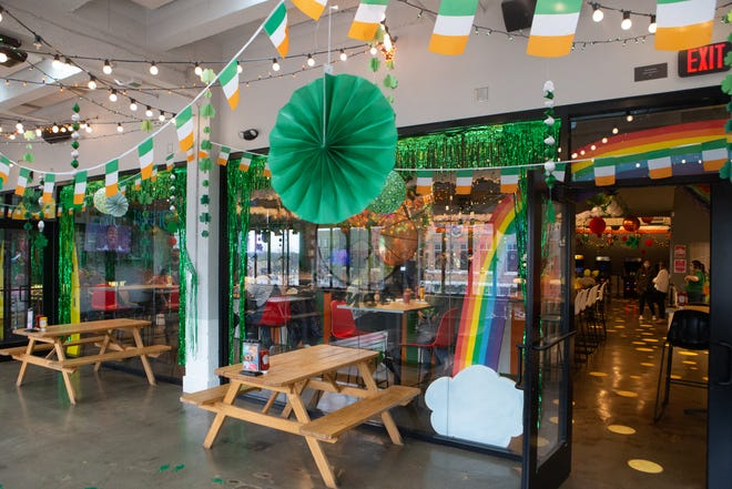 The Pennant has decorated its upper-level bar and dining area for St. Patrick's Day and March Madness. The pop-up bar, Shamrock Madness, will be open until April 10.