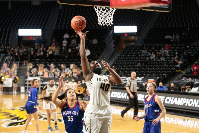 Topeka High's NiJaree Canady was named first-team All-Class 6A by the Kansas Basketball Coaches Association after helping lead the Trojans to a runner-up finish in Class 6A this season.