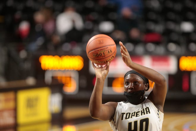 For the second straight year, Topeka High's NiJaree Canady was named player of the year in the Centennial League, leading the Trojans to an undefeated league record. Canady earned first-team honors for the third straight year and was one of three Trojans on the first team.