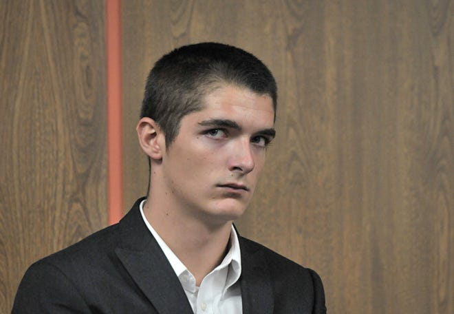 Joseph Kapp of Gardner at his arraignment hearing on Aug. 29, 2016, in Fitchburg District Court.
