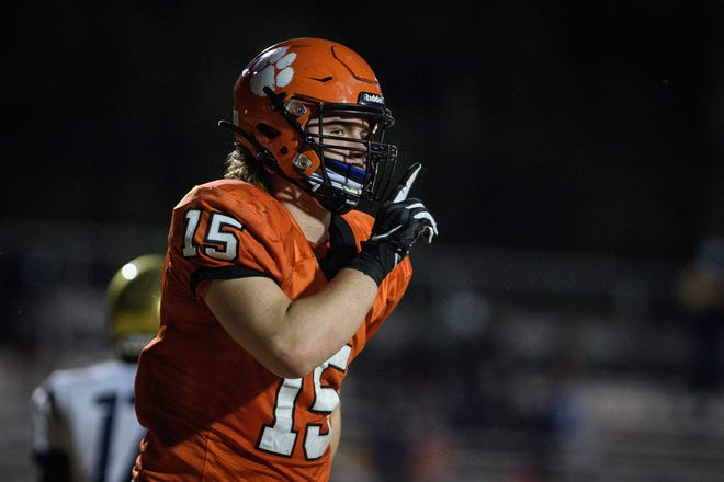 South View senior Joshua George had a pair of touchdown receptions, kicked an extra point and had a hand in several tackles during Friday's shutout of E.E. Smith.